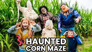 Assistant and Friends in the Haunted Corn Maze with Scarecrow, Mummy and Hello Neighbor