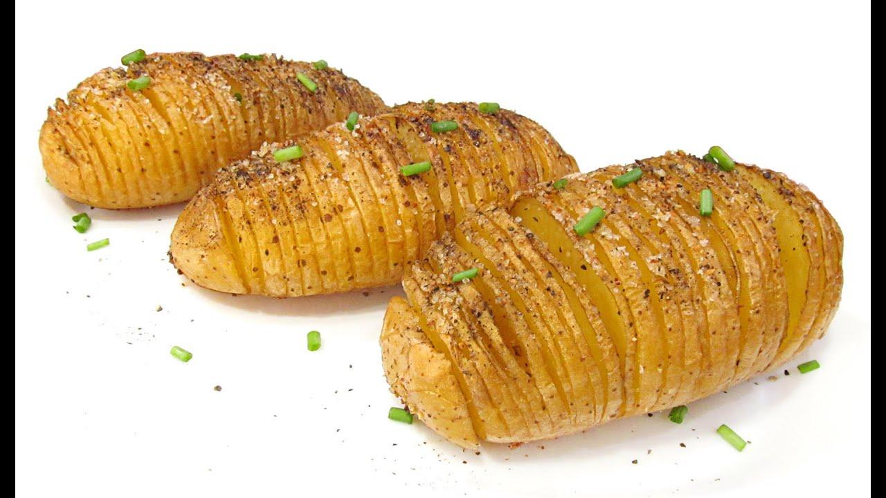 Patatas al horno estilo hasselback youtube - Patatas pequenas al horno ...