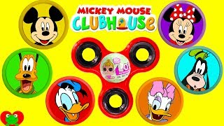 Mickey Mouse Club House Friends Fidget Play Doh Surprise Learn Colors ABC Song