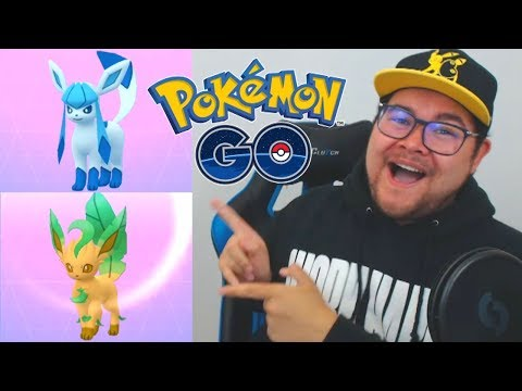 EVOLVING SHINY GLACEON & SHINY LEAFEON IN POKÉMON GO!