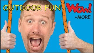 Outdoor Fun for Kids with Steve and Maggie | Short Stories for Children from Wow English TV