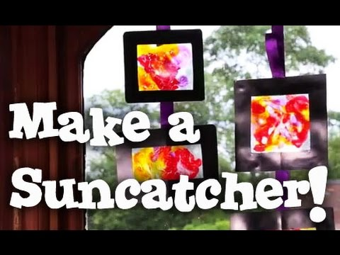 Make a Suncatcher - Christmas Craft Tutorial - Glass Painting