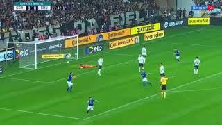 Gol de Robinho Corinthians 0 x 1 Cruzeiro Copa do Brasil 2018