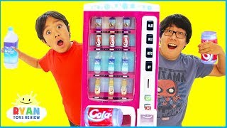 Ryan Pretend Play with Vending Machine Toys for Kids and Children Playhouse!!!