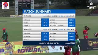MALAYSIA T20 i TRI-SERIES THAILAND VS MALDIVES