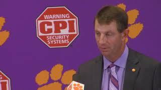 TigerNet: Dabo Swinney BC postgame press conference 9.23.17