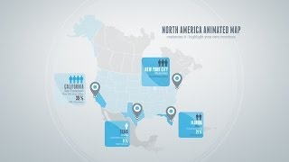 6 included Animated Maps - After Effects Template