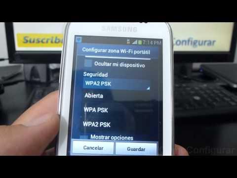 como configurar como modem el samsung galaxy chat B5330 español Full HD