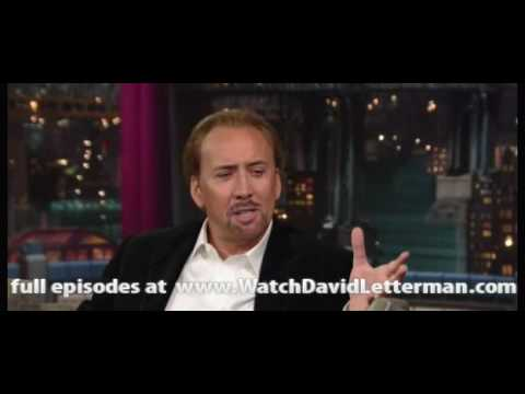 Nicolas Cage in Late Show with David Letterman 2010-07-12