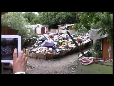 CAMPO ROM PIÙ GRANDE D'EUROPA, GRAZIE SINISTRA [Salvini Basta Euro Tour - Torino, 20/05/2014]