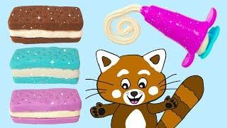 Pukkins leker och gör roliga glassar i trolldeg i tokiga färger på vår barnkanal