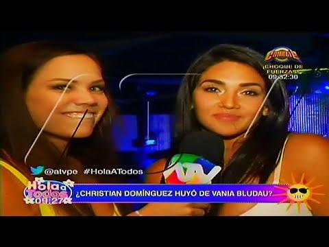 HOLA A TODOS 18/04/16 CHRISTIAN DOMINGUEZ SE CORRE DE VANIA BLUDAU Y NO SE PRESENTO A SU SHOW