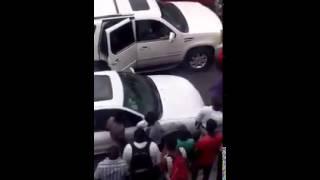 Roro Nelson  at Ruelle Nazon arresting Quiskeya University Student