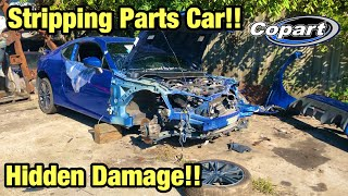 Rebuilding My Totaled Wrecked 2016 Subaru BRZ Part 1 From Copart Salvage Auction Stripping Parts Car