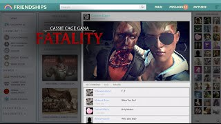SELFIE Mortal Kombat X Cassie Cage & Sonya Blade Video Completo HD Johnny Cage Fatalities