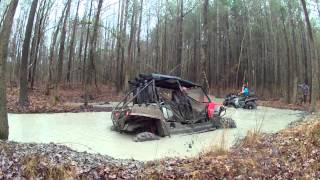 "2015 HONDA PIONEER 500 AND RZR 900 4 in the ""butter"""