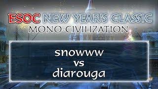 [AoE3] snowww vs diarouga − Round of 8 − ESOC New Year's Classic