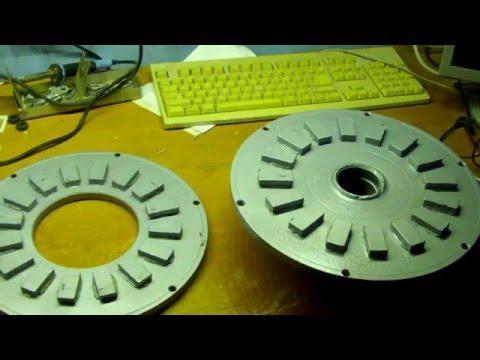 как наклеить магниты на ротор аксиального генератора