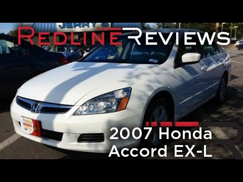2007 Honda Accord EX-L Review. Walkaround. Exhaust. Test Drive