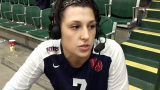 Jenna Jendryk Talks with Keith Raad Following #UDVB's Sweep of Jacksonville