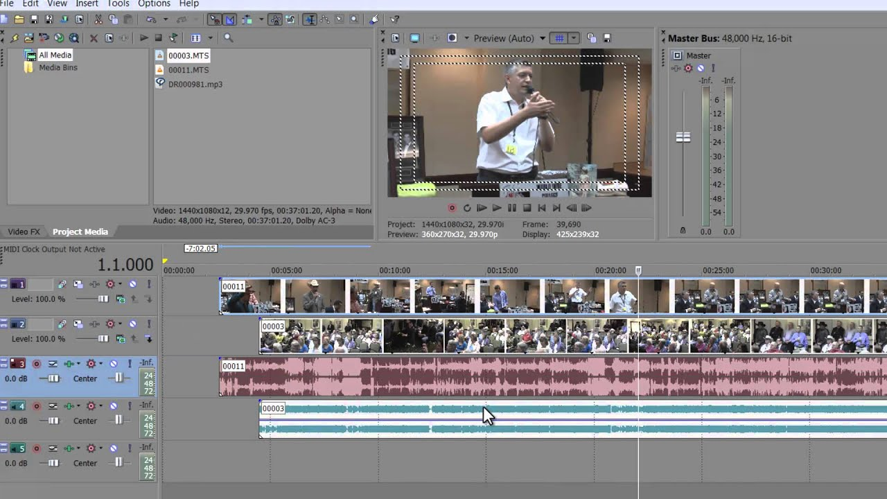 Two Camera Edit Tutorial Sony Vegas 11 Pro - YouTube