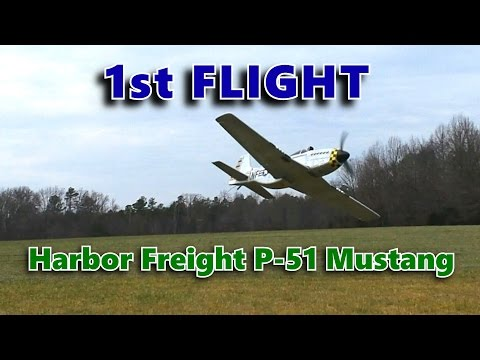 The Harbor Freight Radio Controlled P51 Mustang Airplane. Item #97393