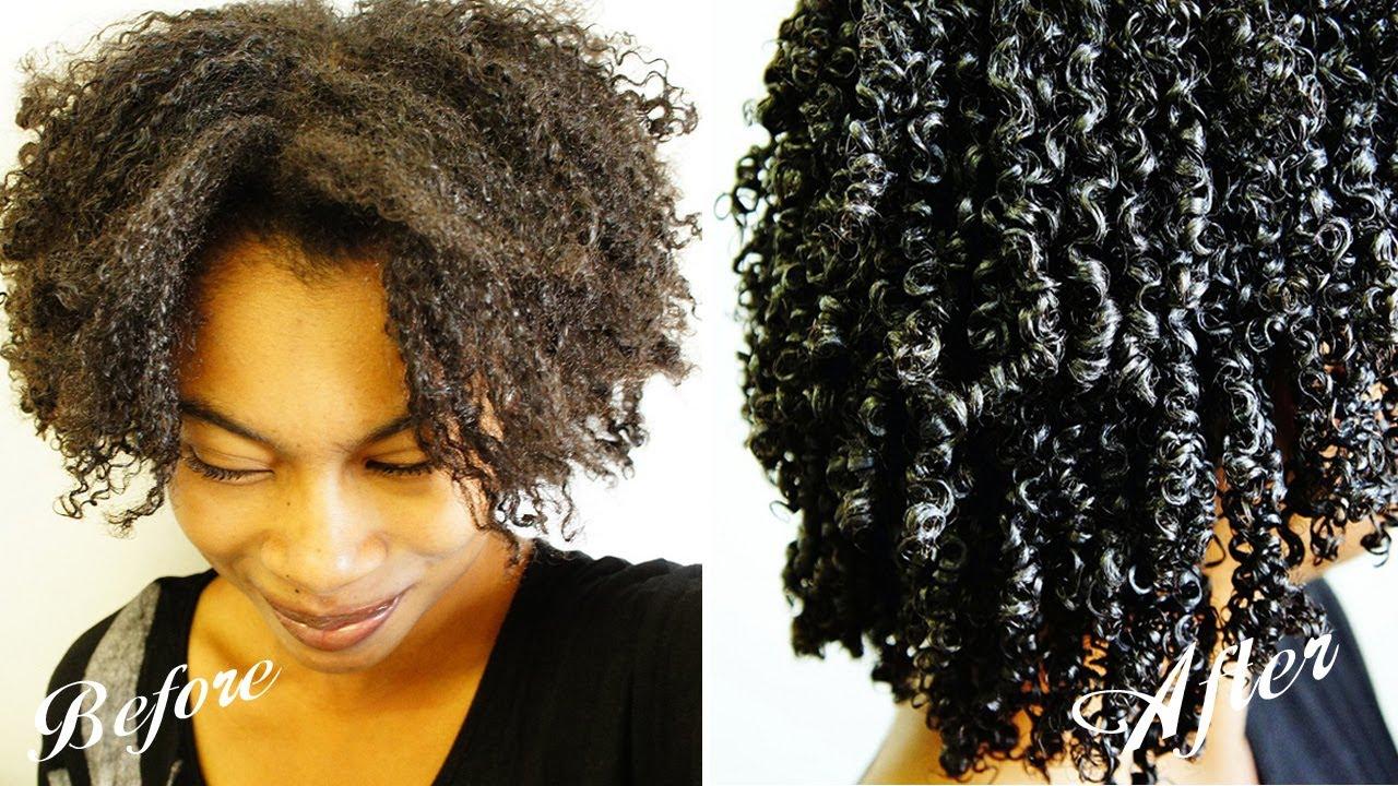 Wash N Go Gel Technique Kinky Coily Hair 4b 4a 3c