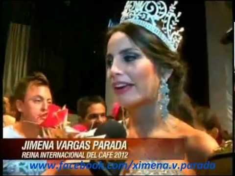 Boliviana Ximena Vargas Parada Reina Internacional del Cafe de Colombia