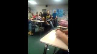 Girl kisses guy in class over a bet @poly high