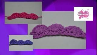 DIY . Comment faire une bordure au crochet // How to make an edge of crochet.