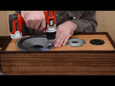 Sony Stereo Speaker Teardown and Rebuild Using Walnut and Hickory Woods