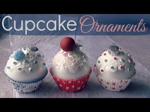 Cupcake Ornaments - Christmas DIY - Holiday How To