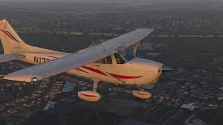 X Plane 11: Cessna Skyhawk 172 take off and landing