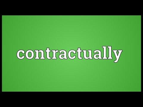Header of contractually