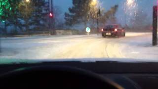 VW Golf V GTI ESP snow testing