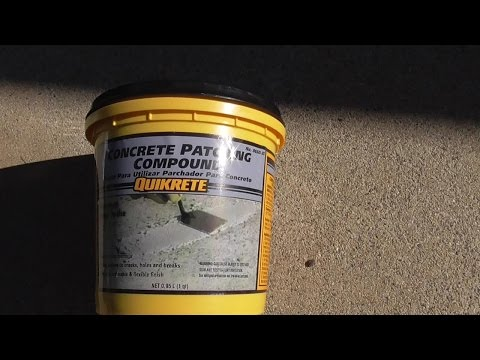 HOW TO PATCH CRACKED CONCRETE DRIVEWAY SIDEWALK WALKWAY QUIKRETE PATCHING COMPOUND REVIEW