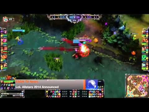 10/3/14 [ESGN TV Daily News] -- League of Legends Allstars officially announced