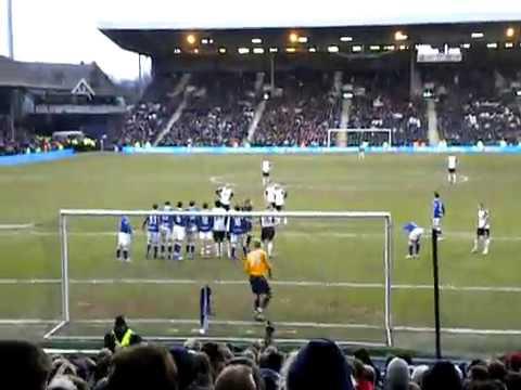 Bobby Zamora Free Kick 21st Feb 2010 v Birmingham 2-1