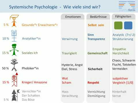 Psychologie 2 - Systemische Psychologie/ Inneres Team - Wie viele bin ich ... und wer genau?