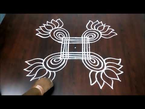 Friday Rangoli Kolam Design  || Festival Muggulu || Beautiful Friday Design 3 x 3 || Fashion World