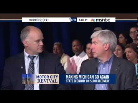 Michigan Gov. Rick Snyder on MSNBC's Morning Joe