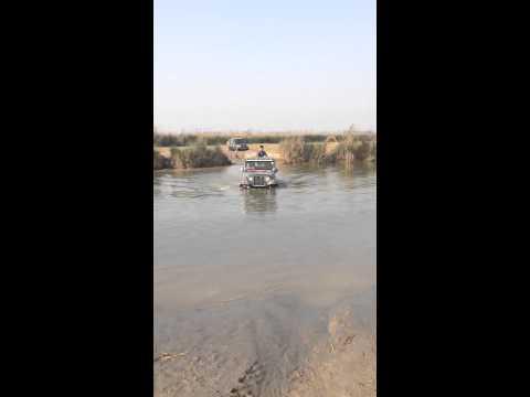 Mahindra thar river crossing beas