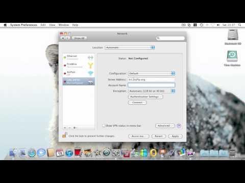 Creating a VPN Connection - Mac OS X