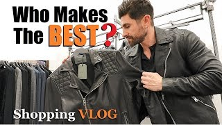 Who Makes The BEST Leather Jackets? (alpha m. Shopping VLOG)