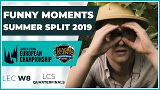 Funny Moments - LCS Quarterfinals & LEC week 8 - Summer Split 2019