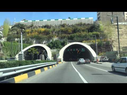 Driving in Tehran, Iran, Highway, March 2014
