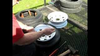 Trailer tire mounting and sealing the bead