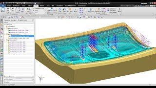 NX CAM : Mold Cavity Machining for Shallow Cavity Shape