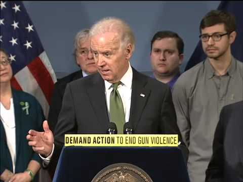 VP Joe Biden Discusses Gun Control At NYC Press Conference