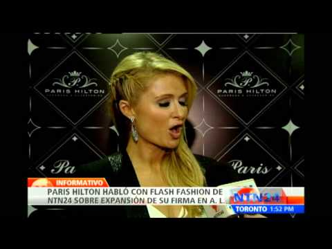 Paris Hilton visita Colombia en la inauguracin de su tienda 